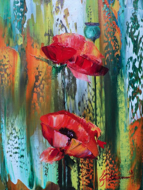 Artwork picture : Nelu Gradeanu, POPPIES SMALL