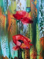Artwork preview : Paintings, POPPIES SMALL