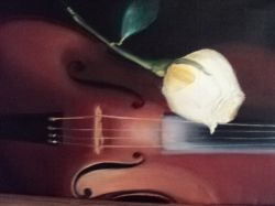 Artwork preview : Paintings, VIOLIN & ROSE