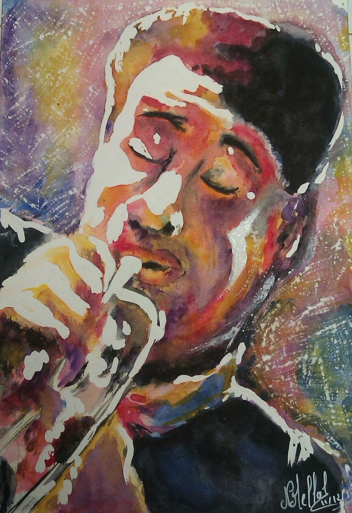 Artwork picture : Nathalie Mellal, JAZZ MEN